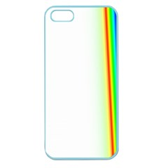 Rainbow Side Background Apple Seamless iPhone 5 Case (Color)