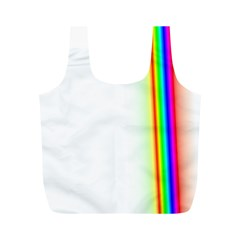 Rainbow Side Background Full Print Recycle Bags (M)