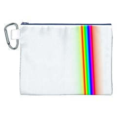 Rainbow Side Background Canvas Cosmetic Bag (XXL)