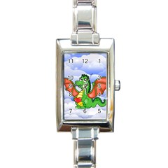 Dragon Heart Kids Love Cute Rectangle Italian Charm Watch