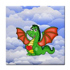 Dragon Heart Kids Love Cute Tile Coasters