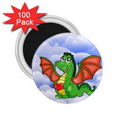 Dragon Heart Kids Love Cute 2 25  Magnets (100 Pack)