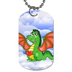 Dragon Heart Kids Love Cute Dog Tag (Two Sides)