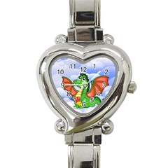 Dragon Heart Kids Love Cute Heart Italian Charm Watch
