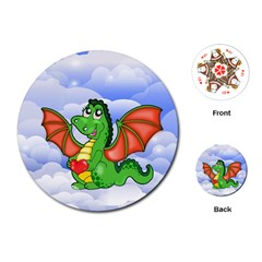 Dragon Heart Kids Love Cute Playing Cards (Round)
