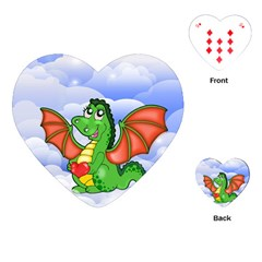 Dragon Heart Kids Love Cute Playing Cards (Heart)