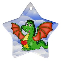 Dragon Heart Kids Love Cute Star Ornament (Two Sides)
