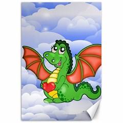 Dragon Heart Kids Love Cute Canvas 20  x 30