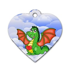 Dragon Heart Kids Love Cute Dog Tag Heart (Two Sides)