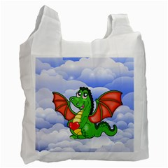 Dragon Heart Kids Love Cute Recycle Bag (two Side)