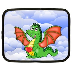 Dragon Heart Kids Love Cute Netbook Case (XL)