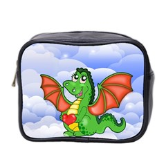 Dragon Heart Kids Love Cute Mini Toiletries Bag 2 Side