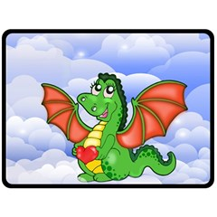 Dragon Heart Kids Love Cute Fleece Blanket (Large)