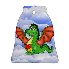 Dragon Heart Kids Love Cute Bell Ornament (Two Sides)