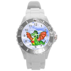 Dragon Heart Kids Love Cute Round Plastic Sport Watch (L)
