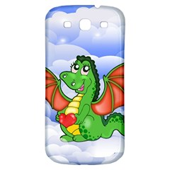 Dragon Heart Kids Love Cute Samsung Galaxy S3 S III Classic Hardshell Back Case