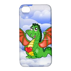 Dragon Heart Kids Love Cute Apple iPhone 4/4S Hardshell Case with Stand