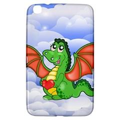 Dragon Heart Kids Love Cute Samsung Galaxy Tab 3 (8 ) T3100 Hardshell Case