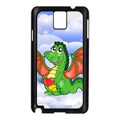 Dragon Heart Kids Love Cute Samsung Galaxy Note 3 N9005 Case (Black)