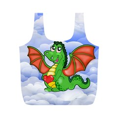 Dragon Heart Kids Love Cute Full Print Recycle Bags (M)