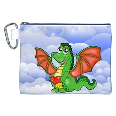 Dragon Heart Kids Love Cute Canvas Cosmetic Bag (XXL)