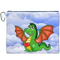 Dragon Heart Kids Love Cute Canvas Cosmetic Bag (XXXL)