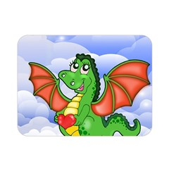 Dragon Heart Kids Love Cute Double Sided Flano Blanket (Mini)