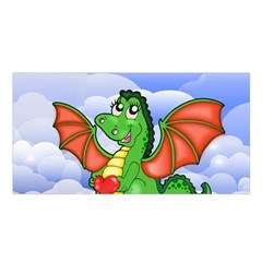 Dragon Heart Kids Love Cute Satin Shawl