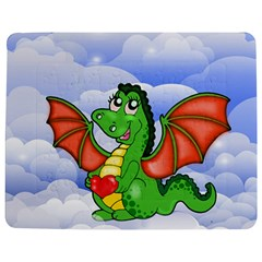 Dragon Heart Kids Love Cute Jigsaw Puzzle Photo Stand (Rectangular)