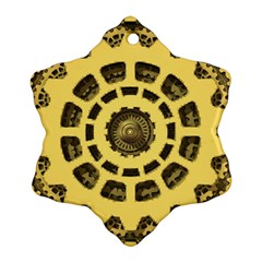 Gears Snowflake Ornament (Two Sides)