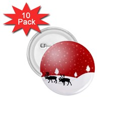 Reindeer In Snow 1.75  Buttons (10 pack)