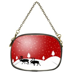 Reindeer In Snow Chain Purses (One Side)