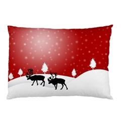 Reindeer In Snow Pillow Case