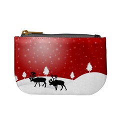 Reindeer In Snow Mini Coin Purses