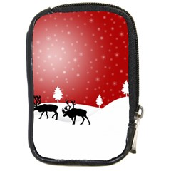 Reindeer In Snow Compact Camera Cases