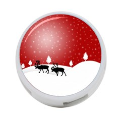 Reindeer In Snow 4-Port USB Hub (Two Sides)