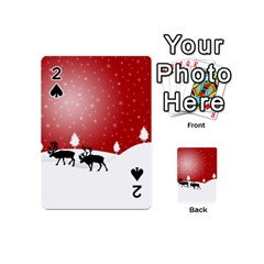 Reindeer In Snow Playing Cards 54 (Mini)