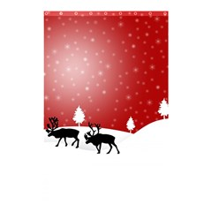 Reindeer In Snow Shower Curtain 48  x 72  (Small)