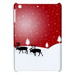Reindeer In Snow Apple iPad Mini Hardshell Case