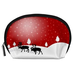 Reindeer In Snow Accessory Pouches (large)