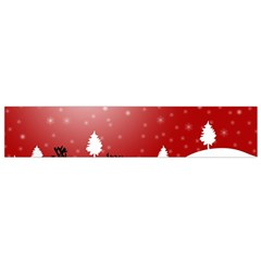 Reindeer In Snow Flano Scarf (Small)