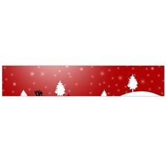 Reindeer In Snow Flano Scarf (large)