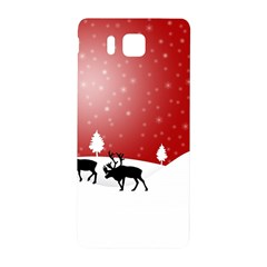 Reindeer In Snow Samsung Galaxy Alpha Hardshell Back Case