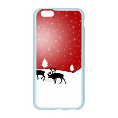 Reindeer In Snow Apple Seamless iPhone 6/6S Case (Color)