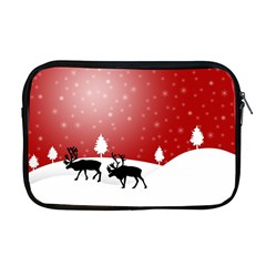 Reindeer In Snow Apple MacBook Pro 17  Zipper Case