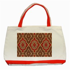 Seamless Carpet Pattern Classic Tote Bag (Red)