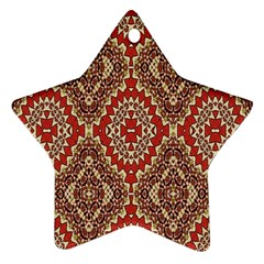 Seamless Carpet Pattern Star Ornament (Two Sides)