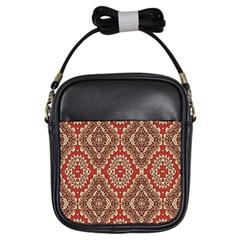 Seamless Carpet Pattern Girls Sling Bags