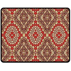 Seamless Carpet Pattern Double Sided Fleece Blanket (medium)