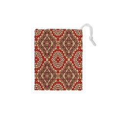 Seamless Carpet Pattern Drawstring Pouches (XS)